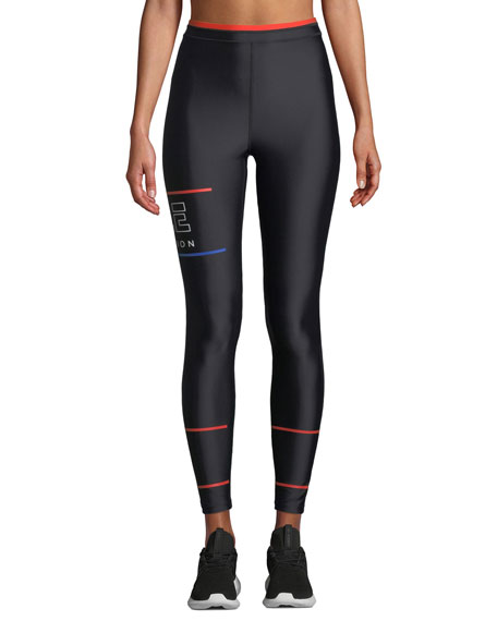 PE Nation Glory High-Rise Printed High-Performance Leggings