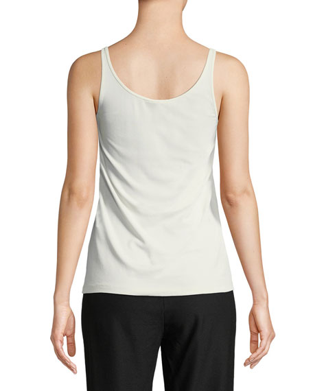 Scoop-Neck Stretch Silk Jersey Cami