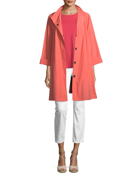 Weather-Resistant Snap-Front Coat