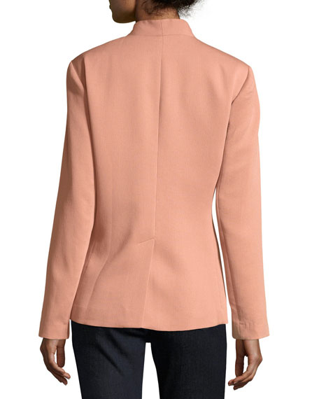 Corded Tencel® Simple Blazer, Plus Size