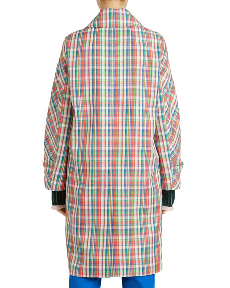 Quendon Check Button-Front Coat