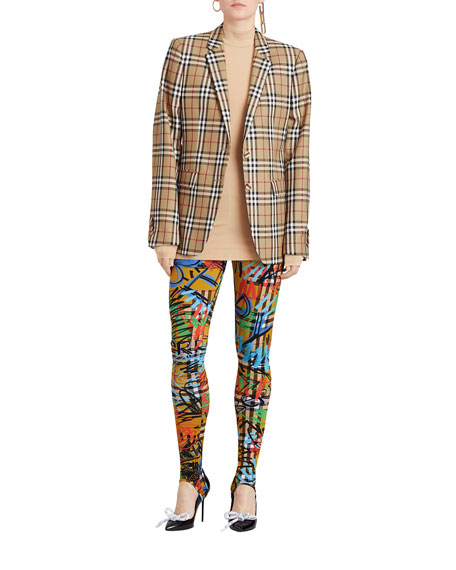 Snowdon Check Wool Two-Button Blazer