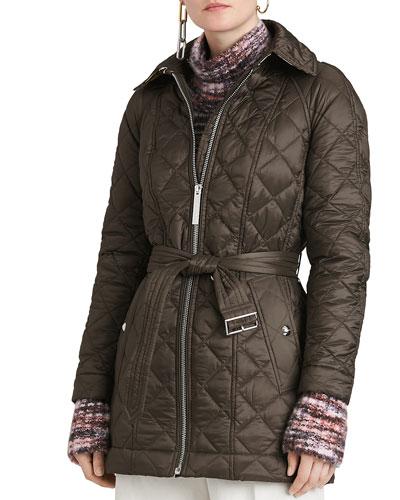 Baughton Quilted Belted Parka Jacket
