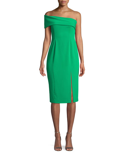 Surrey One-Shoulder Crepe Dress
