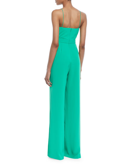 Camrose Silky Crepe Jumpsuit w/ Tie Front