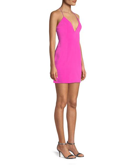 Kenora Strappy Crepe Mini Cocktail Dress