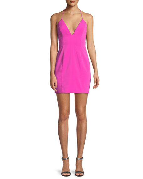 Jay Godfrey Kenora Strappy Crepe Mini Cocktail Dress