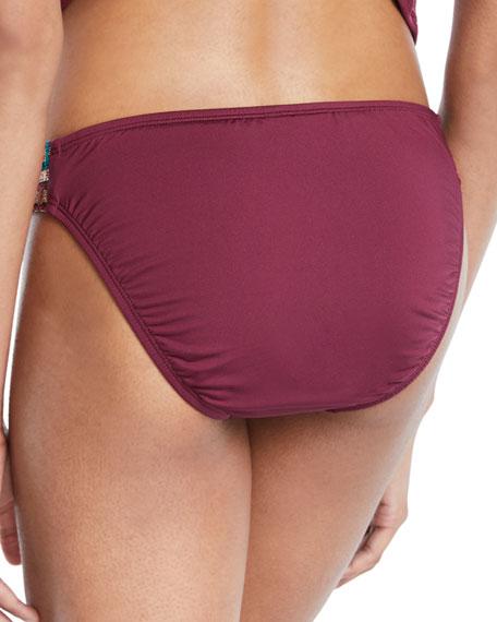 Stitched Hipster Bikini Swim Bottoms