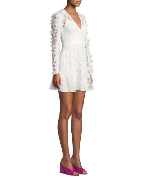 Pursue Long-Sleeve Lace Mini Dress
