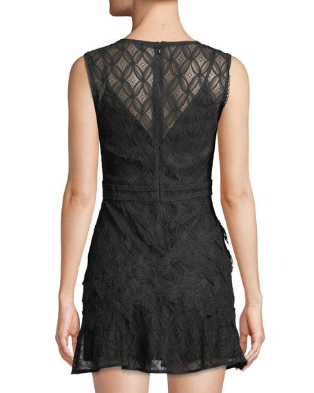 Pursue Sleeveless Lace Mini Cocktail Dress