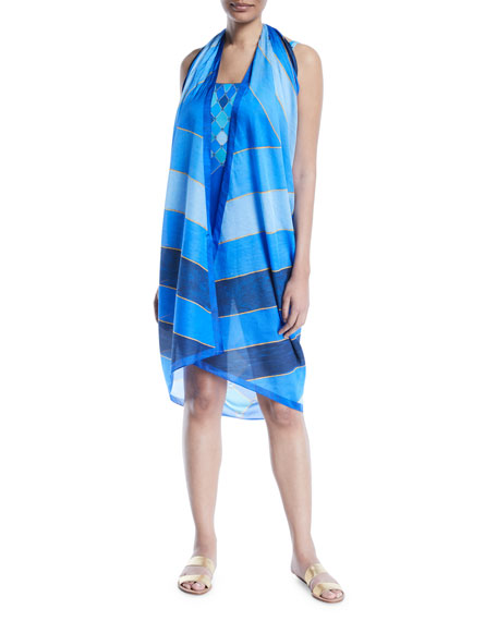 Mystic Gem Woven Pareo Coverup