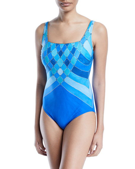 Mystic Gem Printed One-Piece Swimsuit