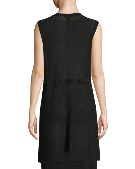 Organic Linen Long Vest
