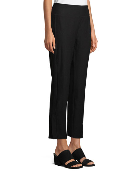 Washable Stretch Crepe Pants, Petite