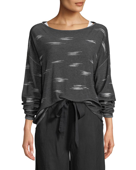Eileen Fisher Pattern Tencel Sweater