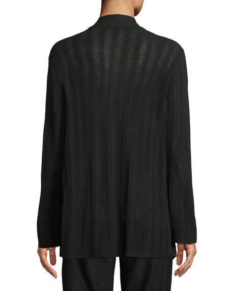 Fine Silk Bell-Sleeve Cardigan, Petite