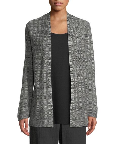 Eileen Fisher Fine Silk/Linen Bell-Sleeve Cardigan, Plus Size