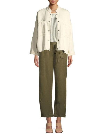 Tencel® Linen Tie-Waist Lantern Pants, Petite