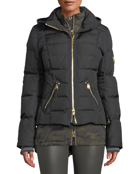 BOGNER Dina Four-Piece Puffer Coat W/ Detachable Hood & Fur in Black