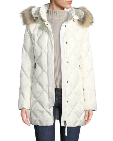 Bogner Sport Irina Diamond-Quilted Coat w/ Removable Hood