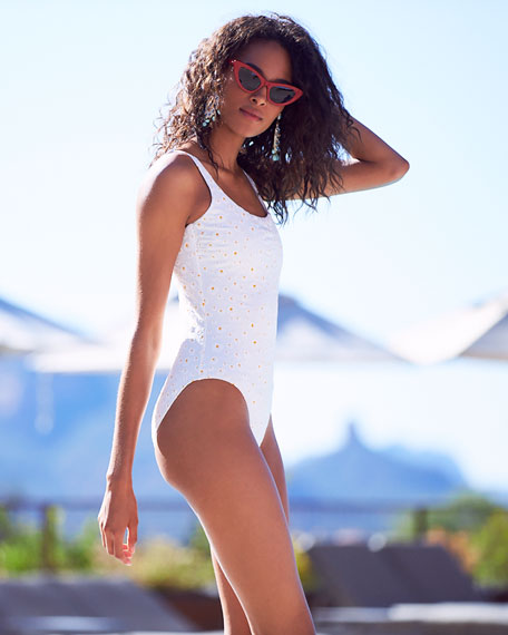 Daisy One-Piece Tank Swimsuit