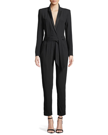Jesalo Long-Sleeve Belted Jumpsuit