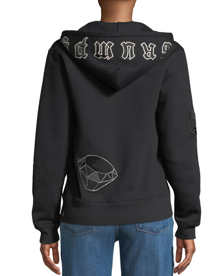 DISNEY X COACH Grumpy Embroidered Zip-Front Hoodie