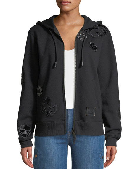 Coach DISNEY X COACH Grumpy Embroidered Zip-Front Hoodie