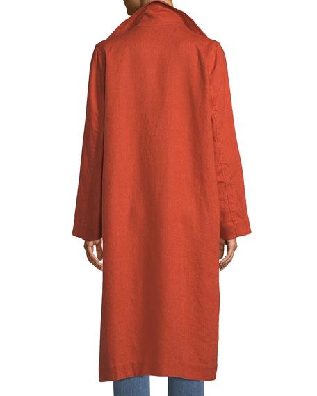 Heavy Organic Linen Trench Coat, Petite