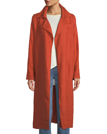 Eileen Fisher Organic Linen Trench Coat and Matching