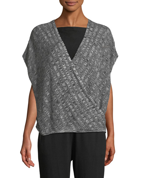 Eileen Fisher Silk-Blend Cap-Sleeve Sweater