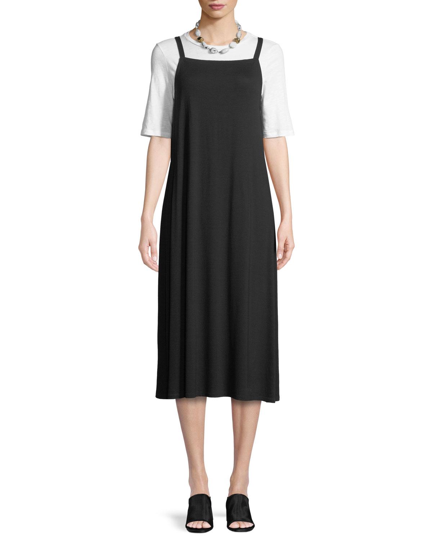 c572391ddf Eileen Fisher Lightweight Viscose Jersey Slip Dress