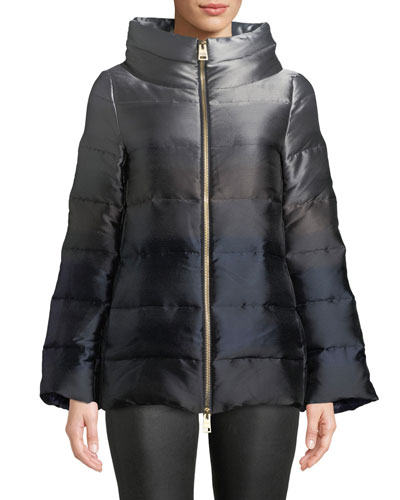 Down-Fill Ombre Puffer Coat