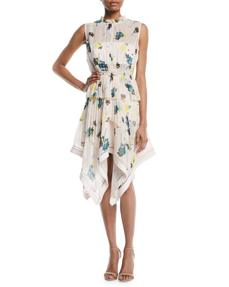 Discount Lowest Price Cheap Pre Order Self-Portrait asymmetric graphic floral dress Cheap Sale Low Price Low Shipping KvG6n