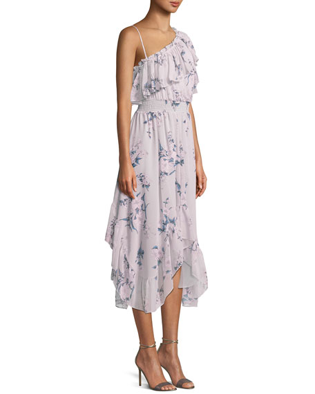 Alexandra One-Shoulder Floral Midi Dress
