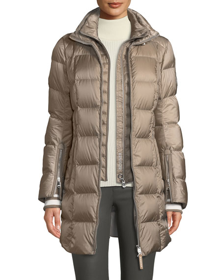 Rose Down-Filled Puffer Coat w/ Detachable Hood