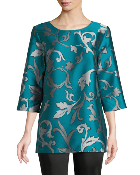 Caroline Rose Dare to Flair Jacquard Tunic