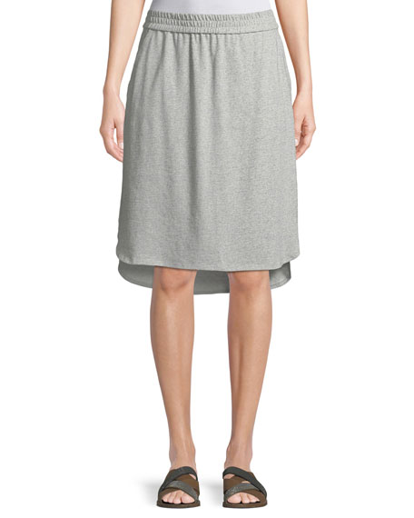 Eileen Fisher Speckled Knit High-Low Skirt