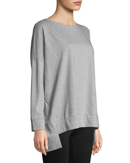 Speckled Knit Long-Sleeve Top, Petite