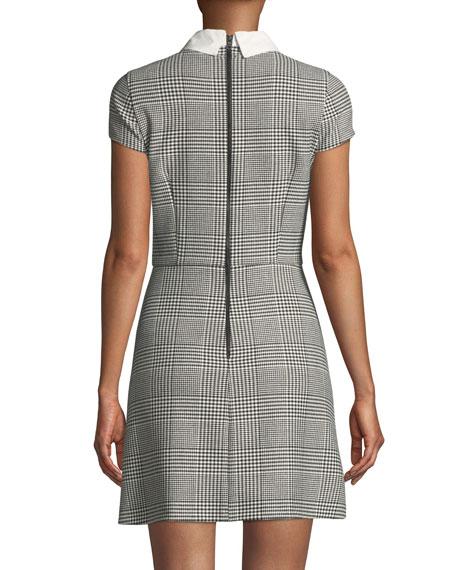 Julissa Collared Check Mini Dress