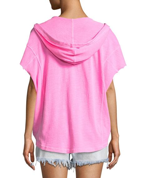 Surfside Short-Sleeve Cotton Hoodie