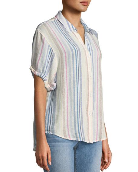 Splendid Arco Iris Striped Button Front Shirt Neiman Marcus