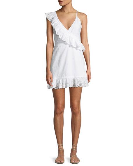 Kate Eyelet Flounce Short Dress