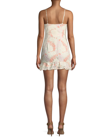 Chauncey Floral Lace Frill Mini Dress