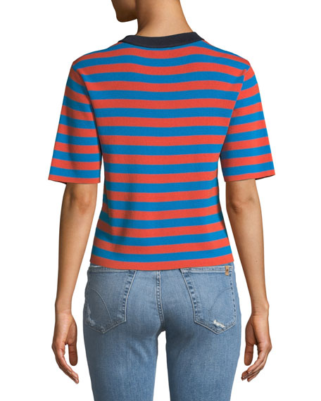 The Drew Striped Crewneck Top