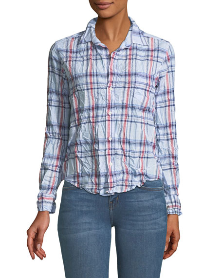 Barry Long-Sleeve Cotton Plaid Button-Down Shirt