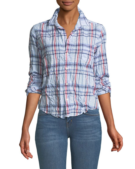 Frank & Eileen Barry Long-Sleeve Cotton Plaid Button-Down