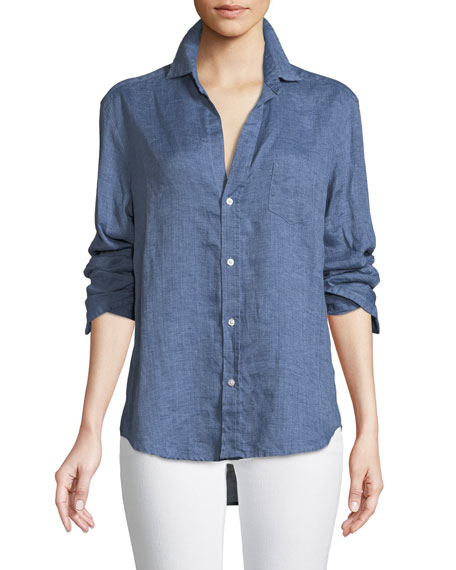 Frank & Eileen Eileen Button-Down Linen Chambray Shirt