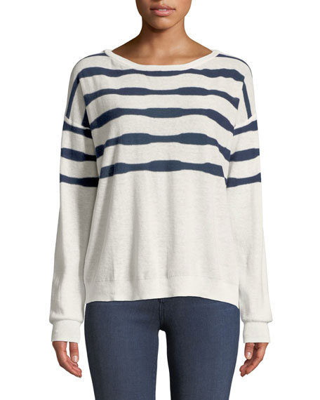 Las Olas Linen-Blend Pullover Sweater