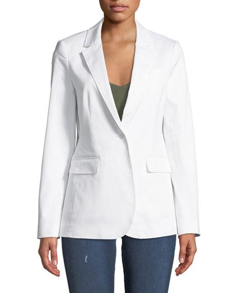 Merilee One-Button Stretch Cotton Jacket